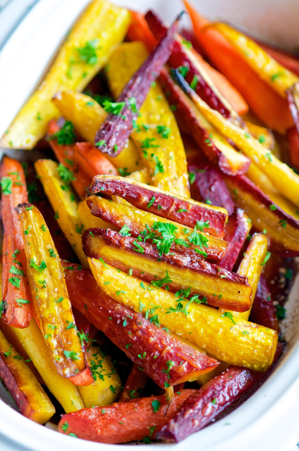 Balsamic Honey Glazed Rainbow CarrotsAberdeens Kitchen
