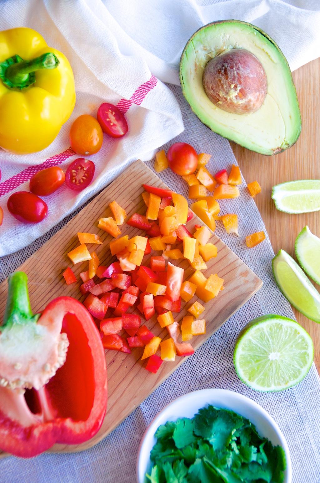 Bell Pepper Avocado Tomato