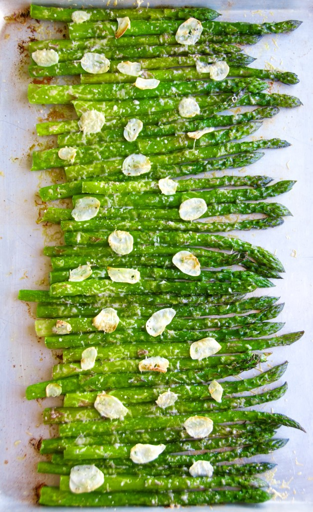 Shaved Garlic Parmesan Asparagus