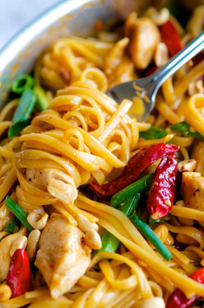 CPK's Kung Pao Chicken Pasta