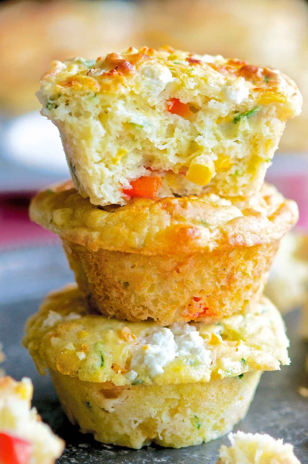 Savory Cheese and Veggie Muffins
