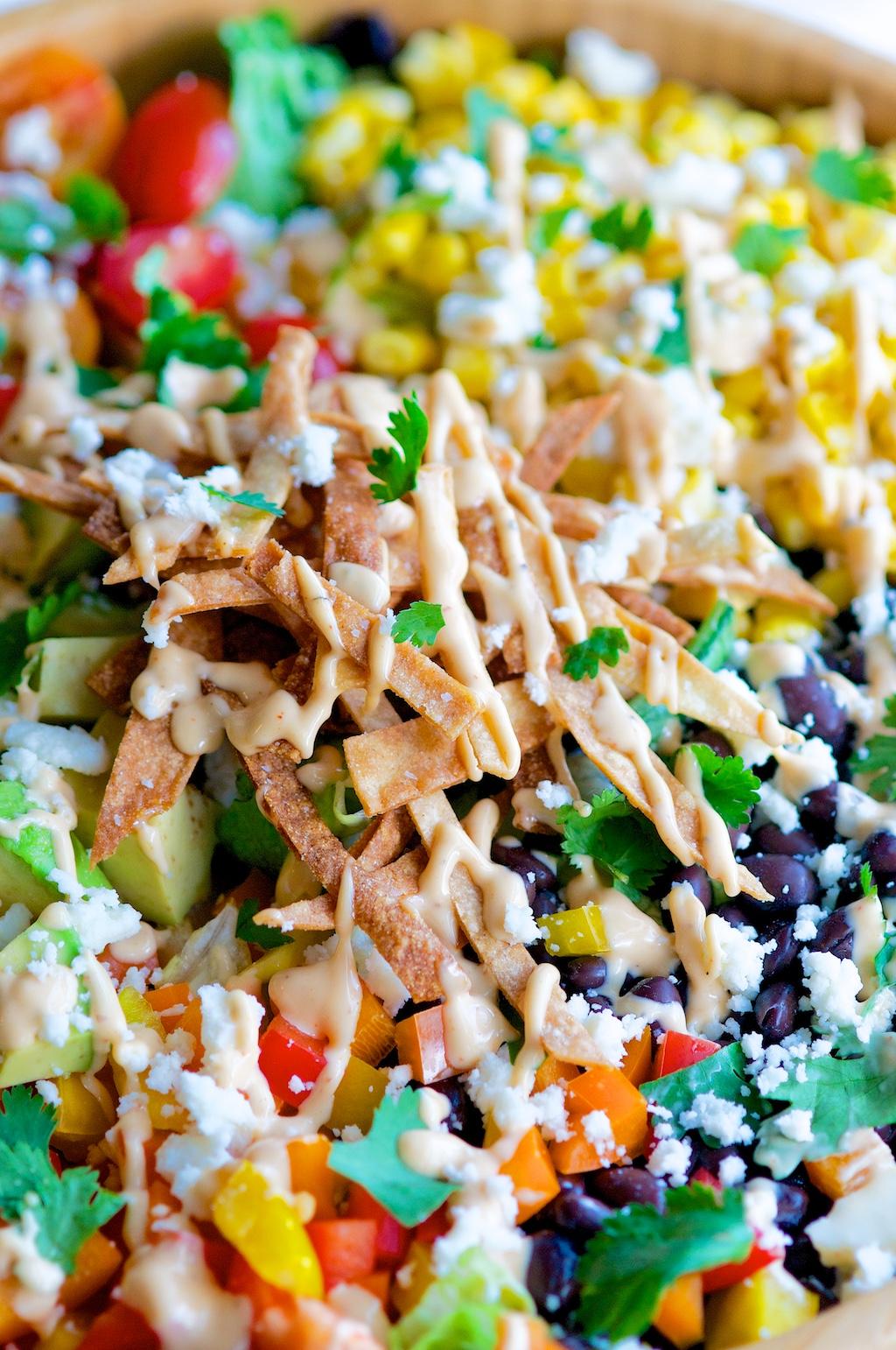 Southwest Chipotle Salad Close Up