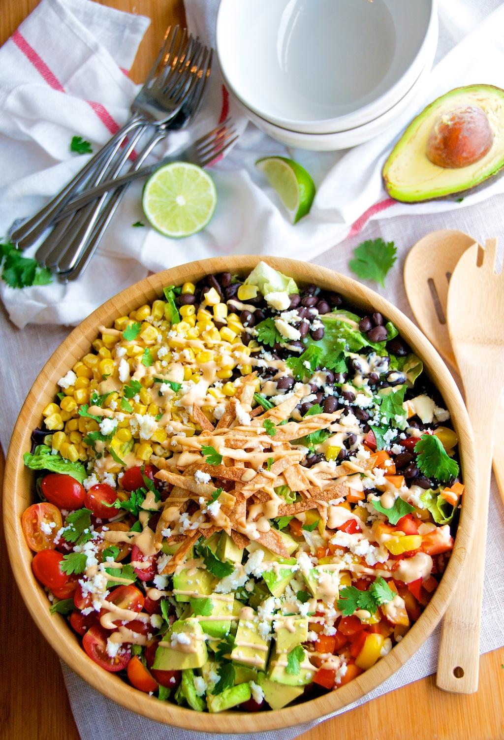 Southwest Chipotle Salad Table Set