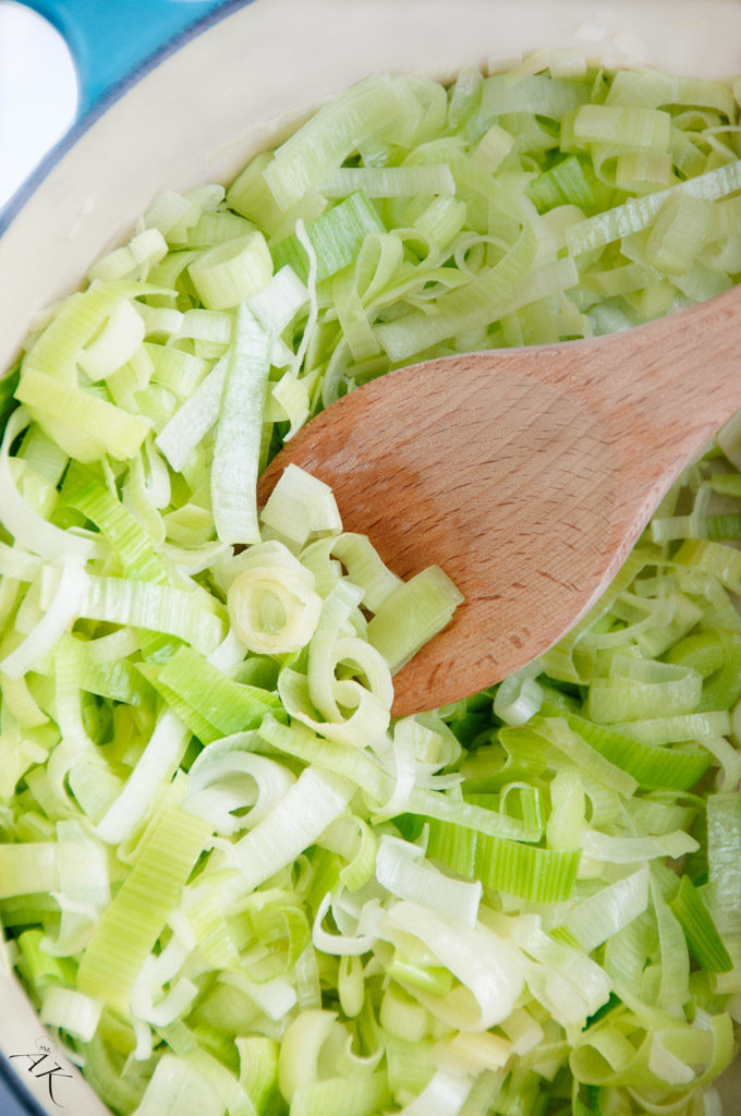 Cooking Leeks in a Pot