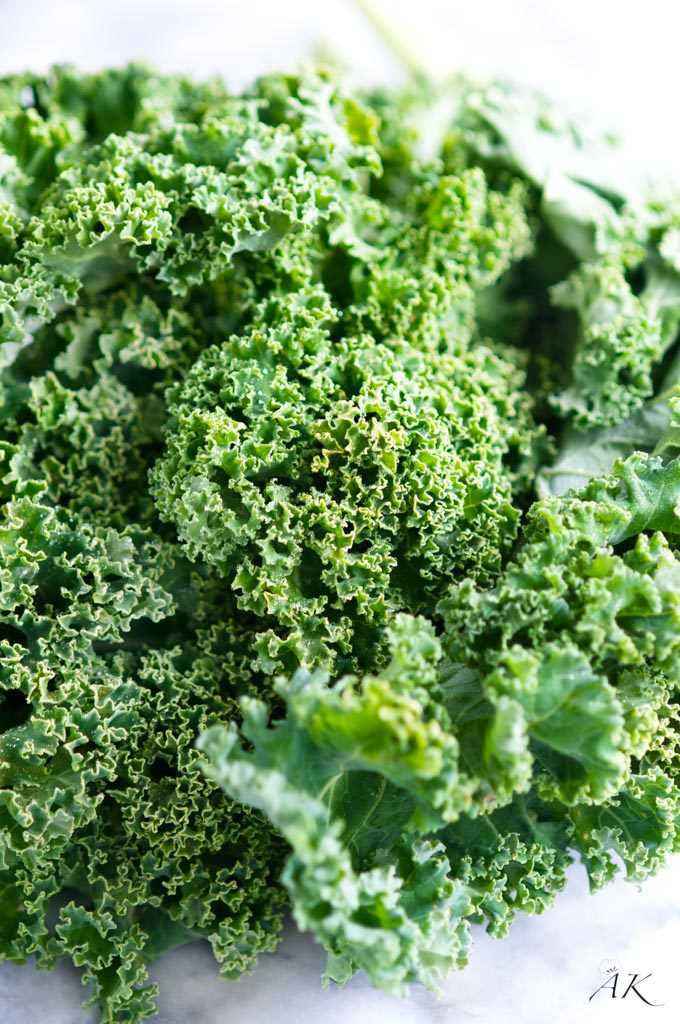 Fresh kale for baked kale chips