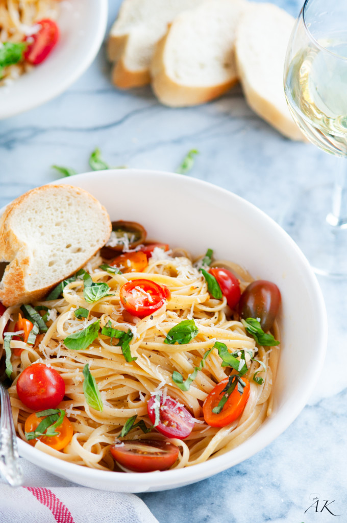 15 Minute Summertime Linguine Pasta