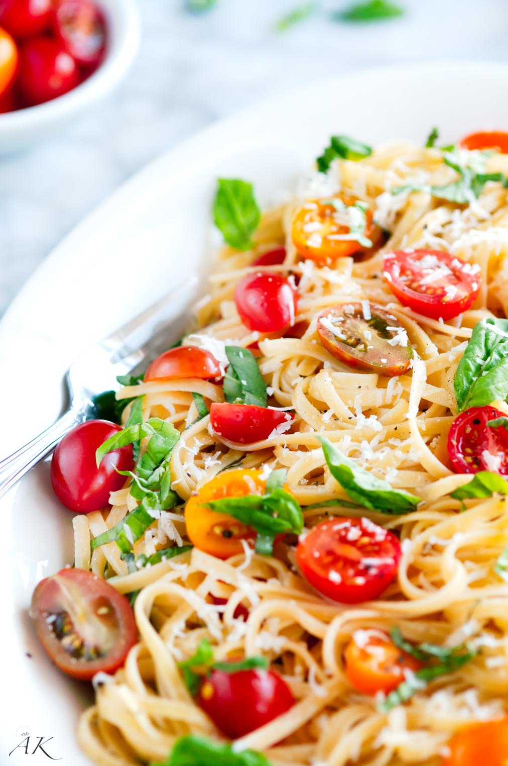 Summertime Linguine Pasta Platter