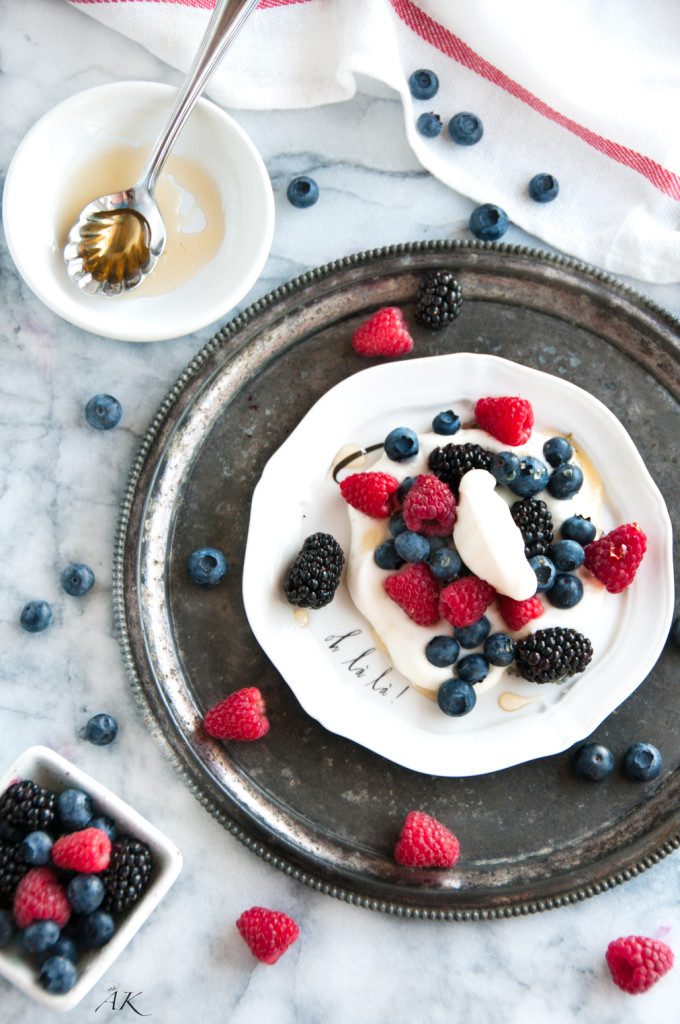 Summer Berries with Limoncello Vanilla Cream