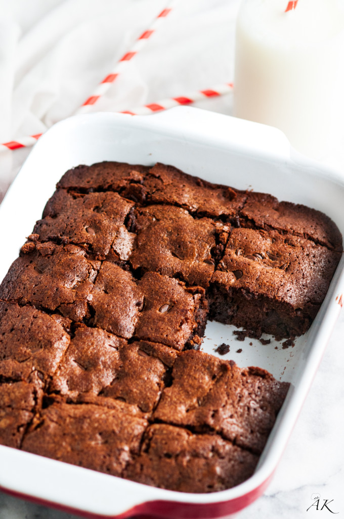 Decadent Double Chocolate Chewy Brownies