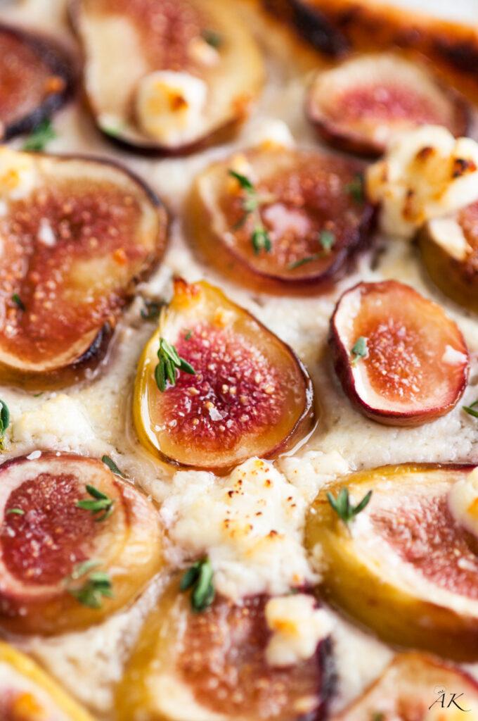 Fresh Fig, Mascarpone and Goat Cheese Tart