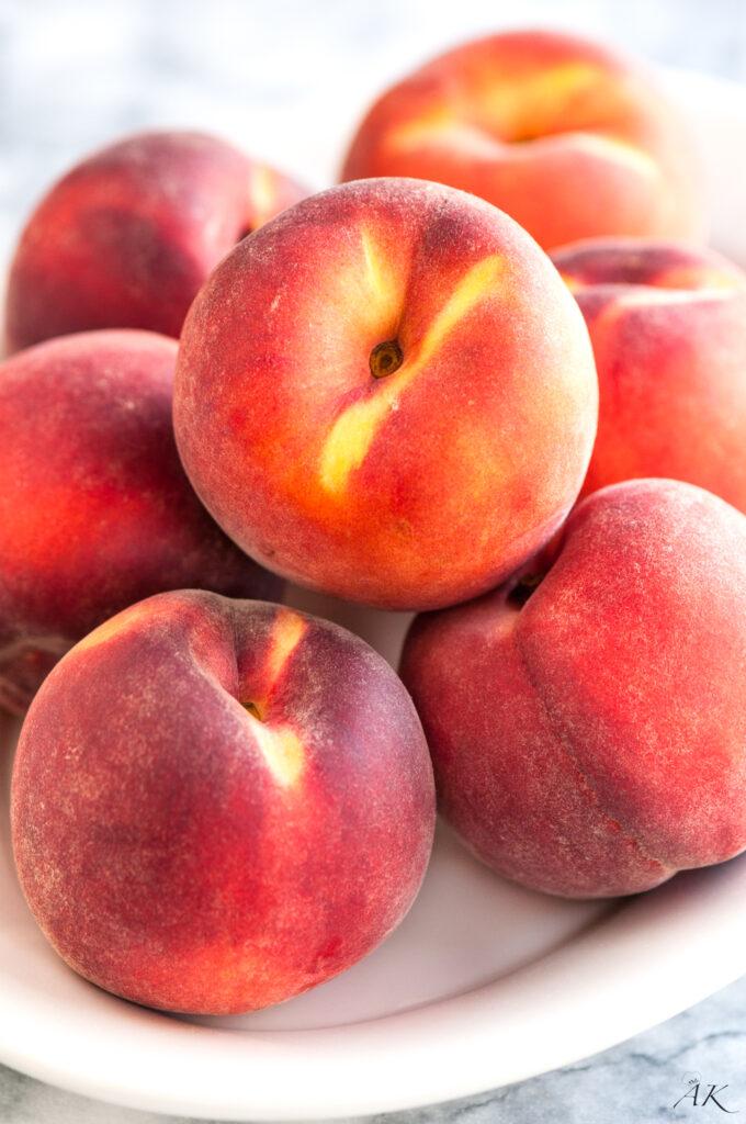 Single Serving Summer Peach Crisps