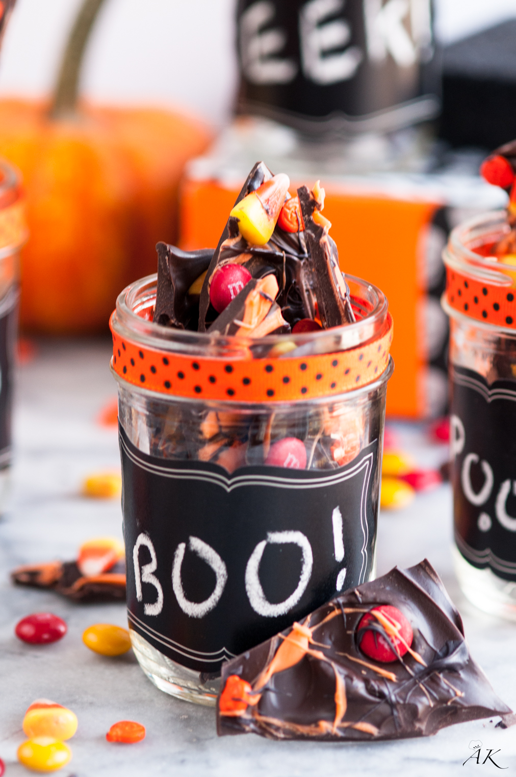 Halloween Chocolate Candy Bark