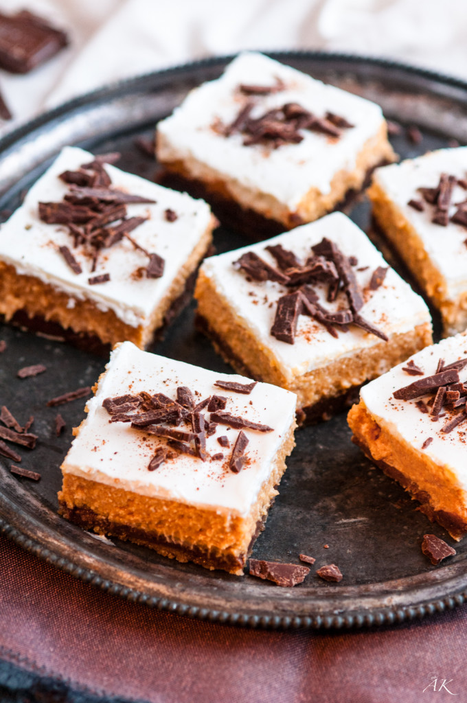 Chocolate Pumpkin Cheesecake Squares