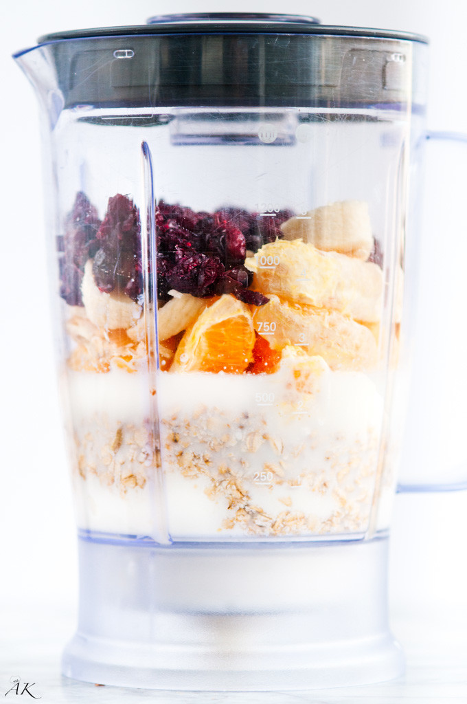 Orange Cranberry Muffin Smoothie