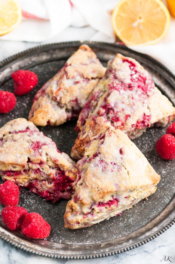 Lemon Raspberry Scones - Aberdeen's Kitchen