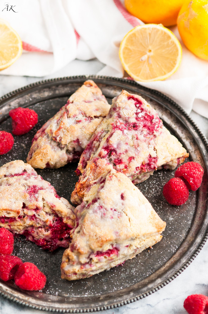 Lemon Raspberry Scones