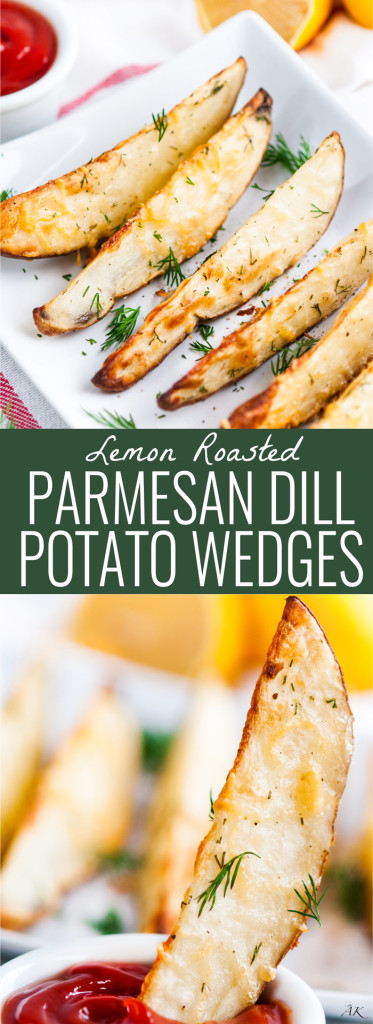 Roasted Parmesan Dill Potato Wedges