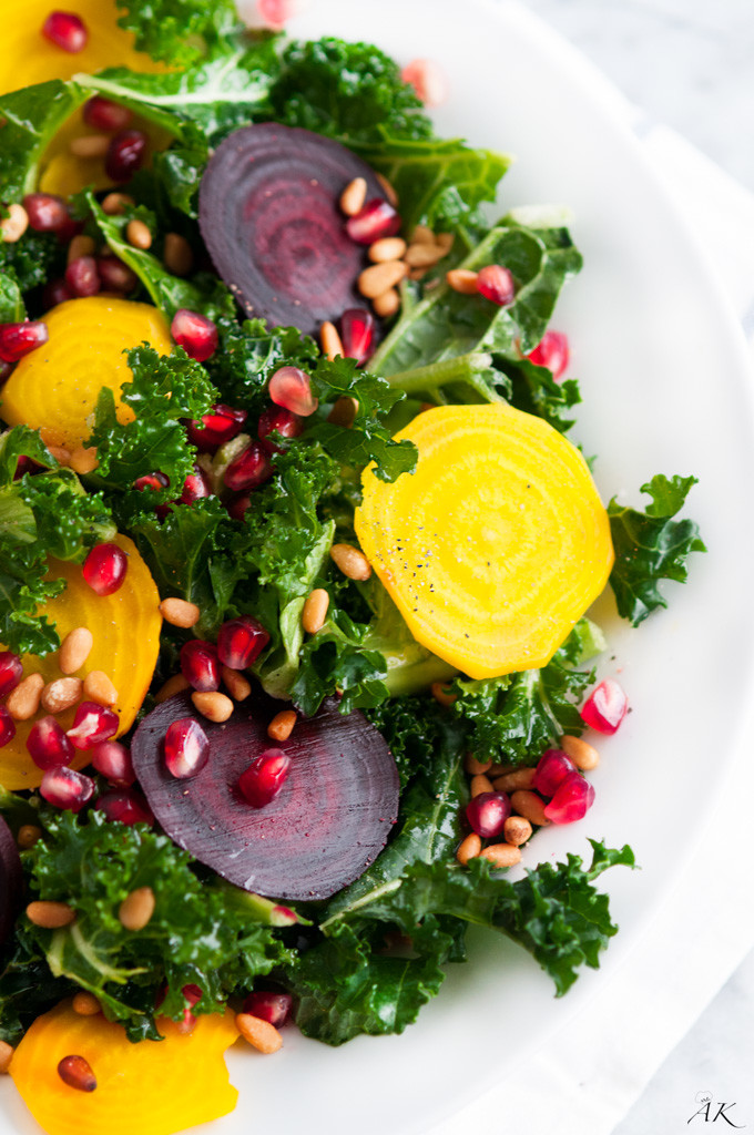 Winter Kale Beet Salad