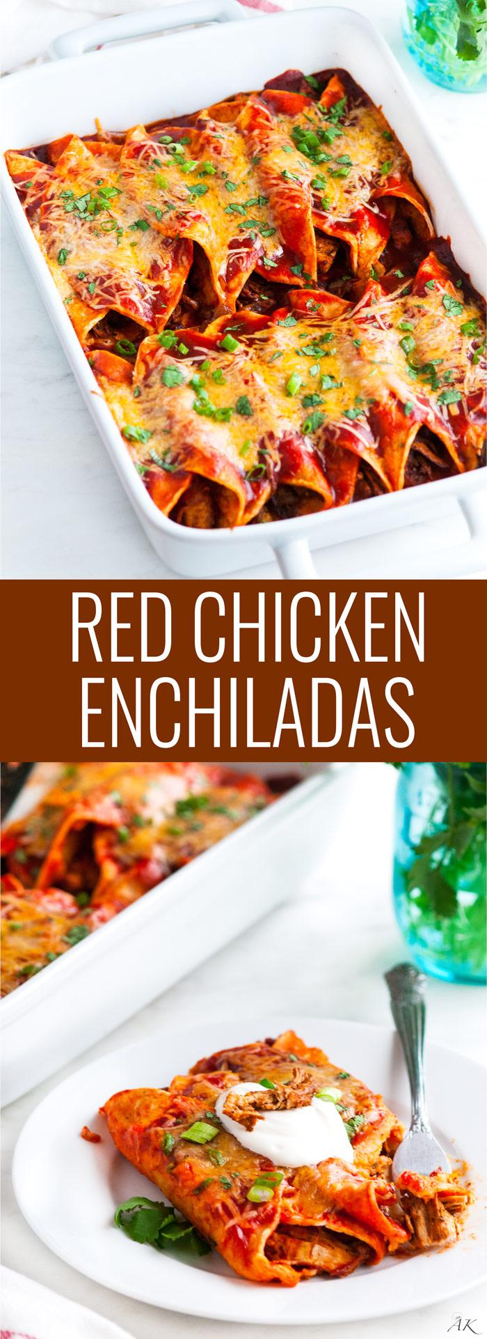 Red Chicken Enchiladas Aberdeen S Kitchen