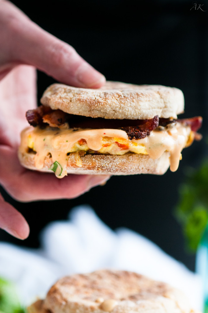 Spicy Chipotle Egg Breakfast Sandwiches