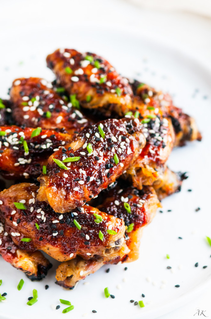 Sweet and Spicy Baked Orange Chicken Wings
