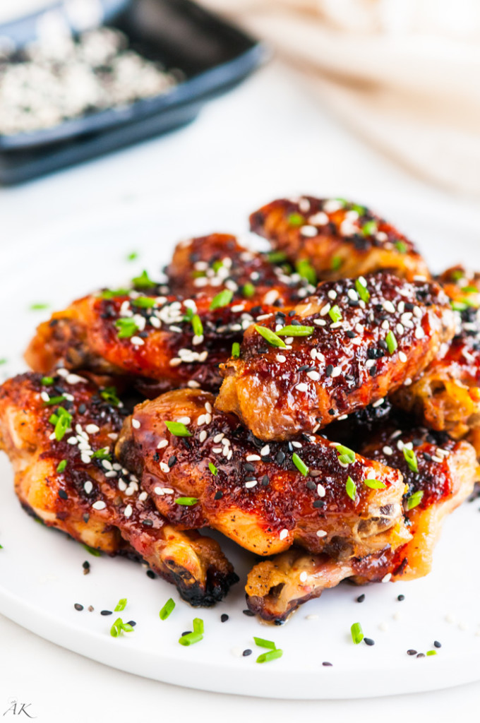 Sweet and Spicy Baked Orange Chicken Wings-6