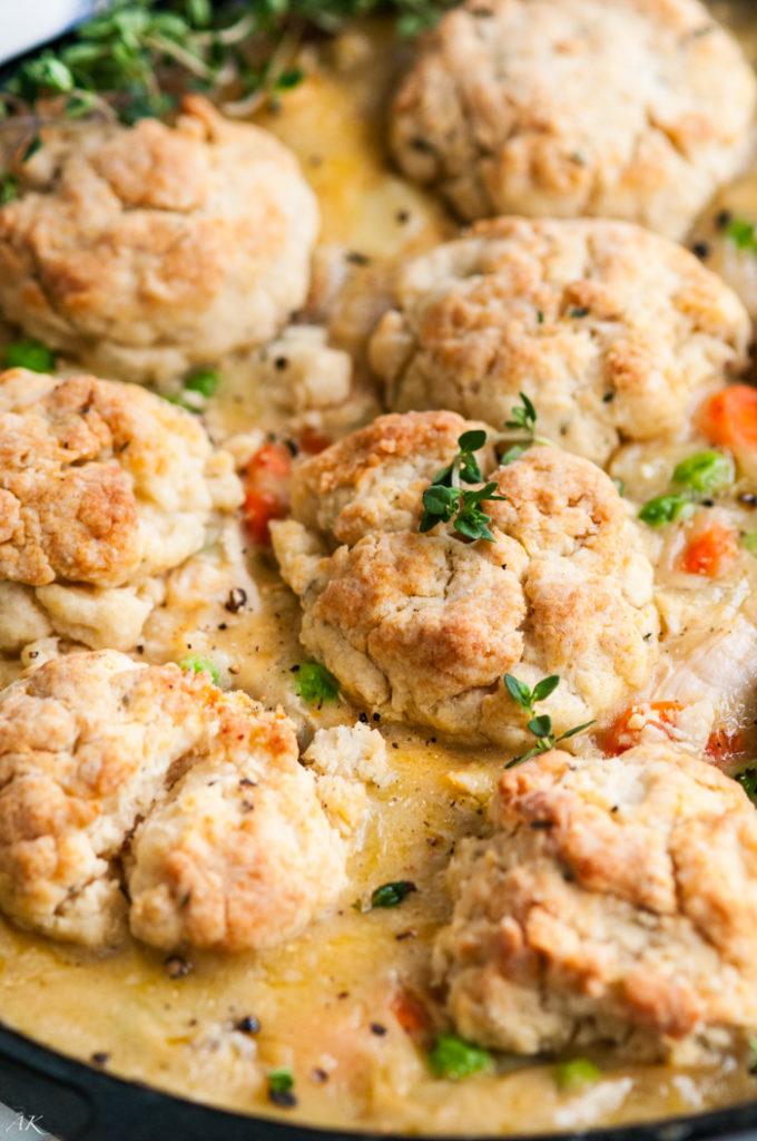Herb Biscuit Chicken Pot Pie | aberdeenskitchen.com