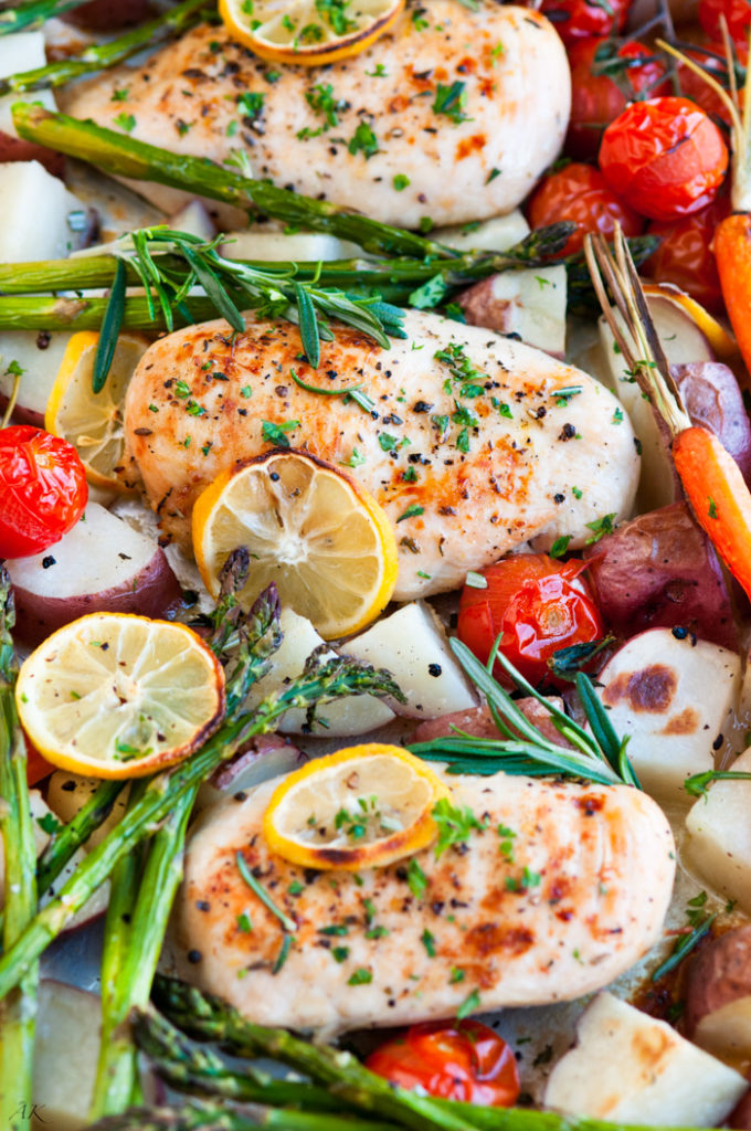 One Pan Lemon Herb Chicken | aberdeenskitchen.com