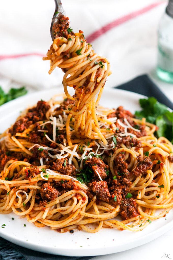 Simple Spaghetti Beef Sauce-7