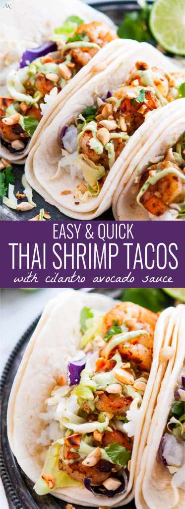 Thai Shrimp Tacos