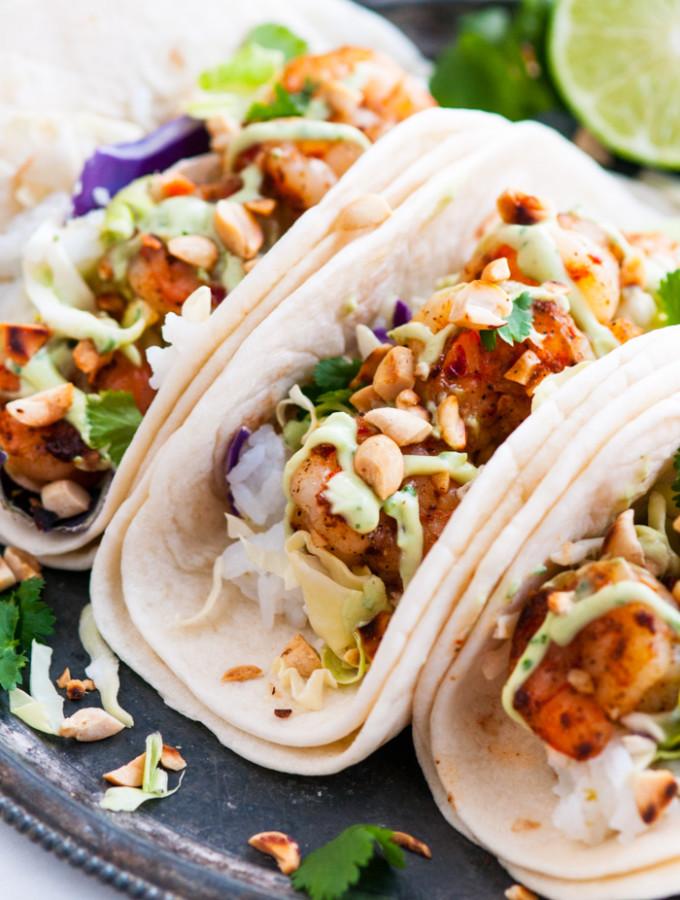 Thai Shrimp Tacos