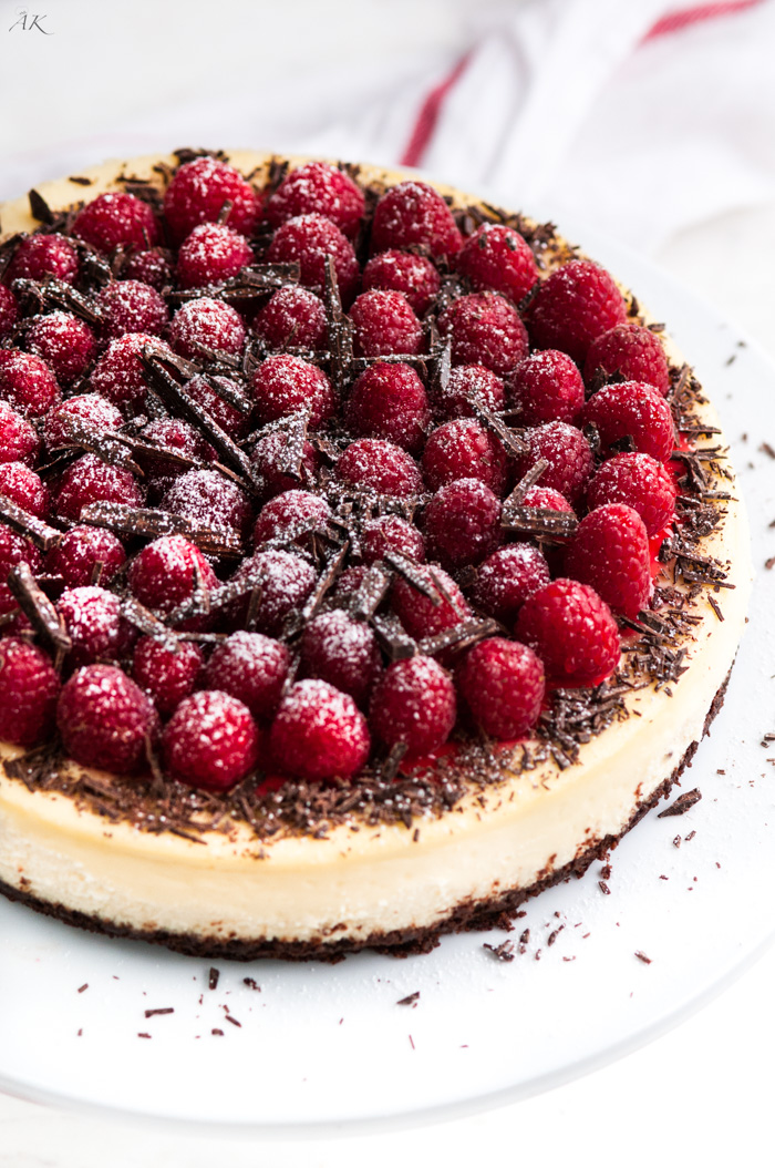 dark chocolate raspberry cheesecake