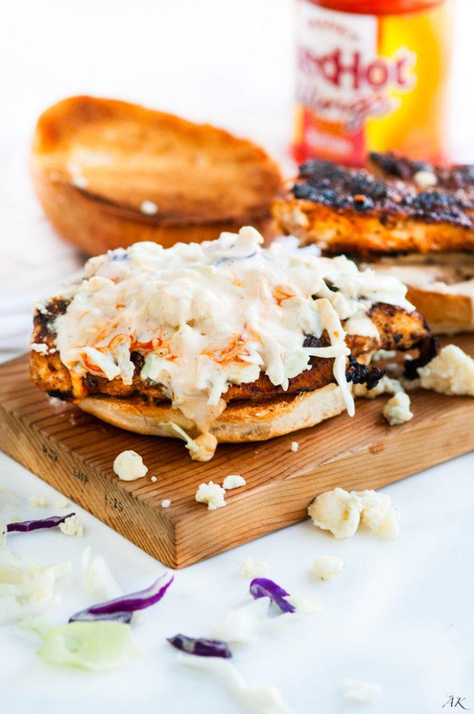 Spicy Buffalo Chicken Sandwiches   aberdeenskitchen.com