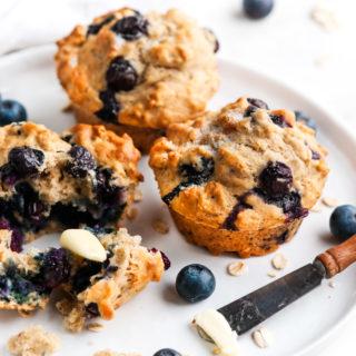 Blueberry Lemon Oat Muffins | aberdeenskitchen.com