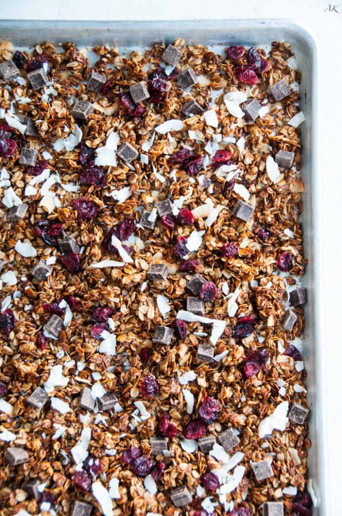 Dark Chocolate Cherry Granola | aberdeenskitchen.com