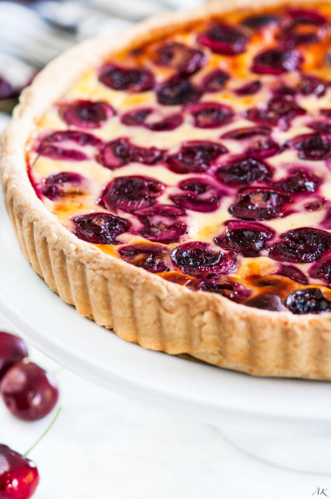 Cherry Custard Tart | aberdeenskitchen.com
