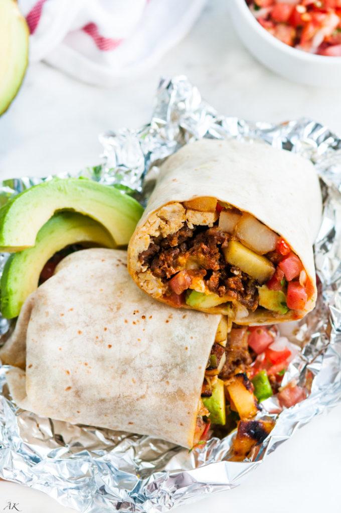 Chorizo Breakfast Burrito | aberdeenskitchen.com