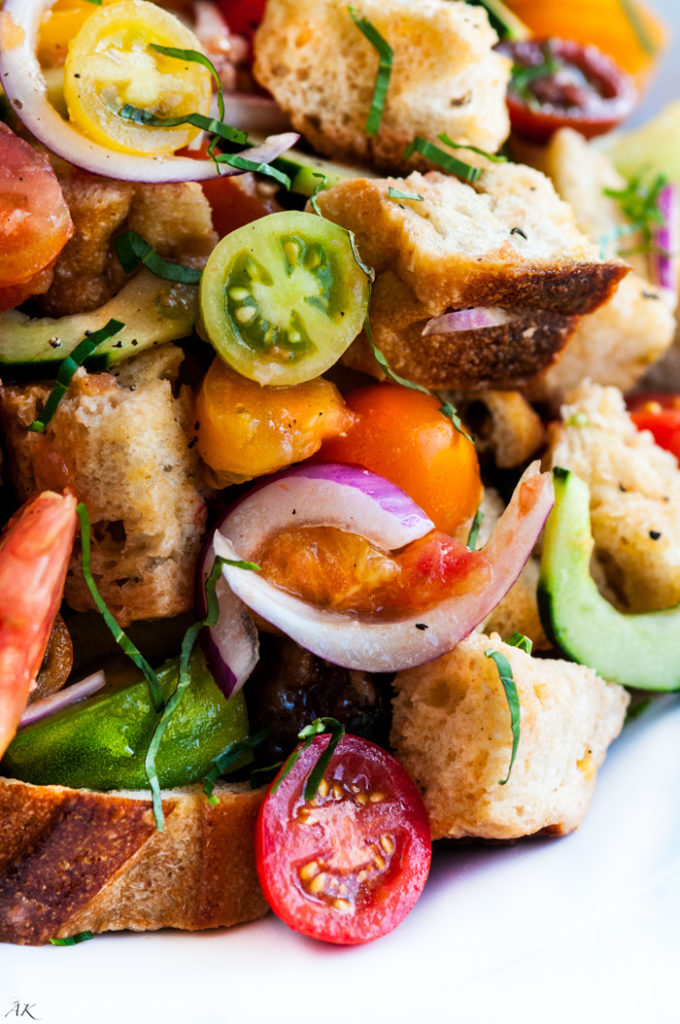Heirloom Tomato Panzanella Salad | aberdeenskitchen.com