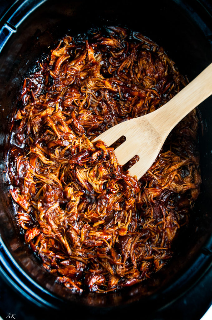 Spicy Slow Cooker BBQ Chicken Sandwich | aberdeenskitchen.com