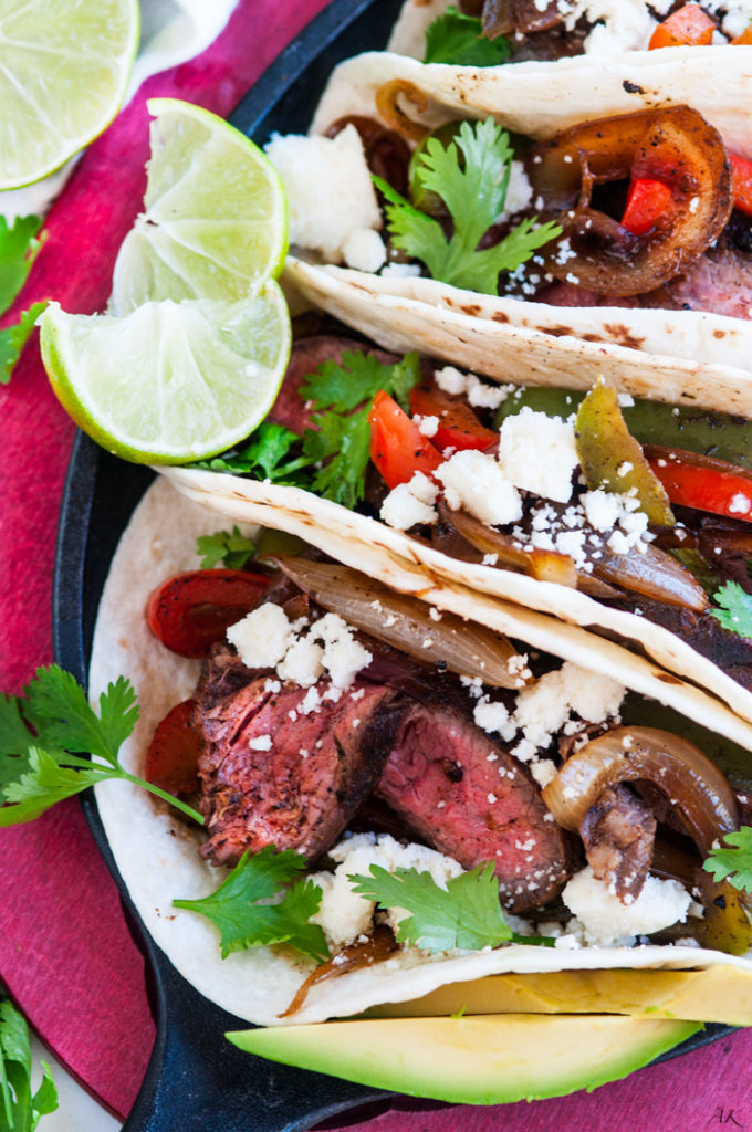 Easy Skillet Steak Fajitas | aberdeenskitchen.com