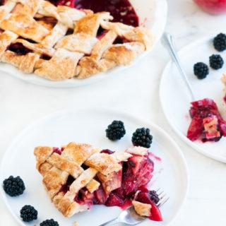 Apple Blackberry Pie | aberdeenskitchen.com