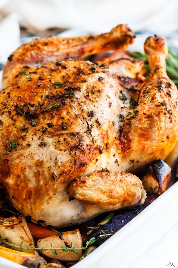 Lemon Roasted Apple Chicken and Veggies | aberdeenskitchen.com