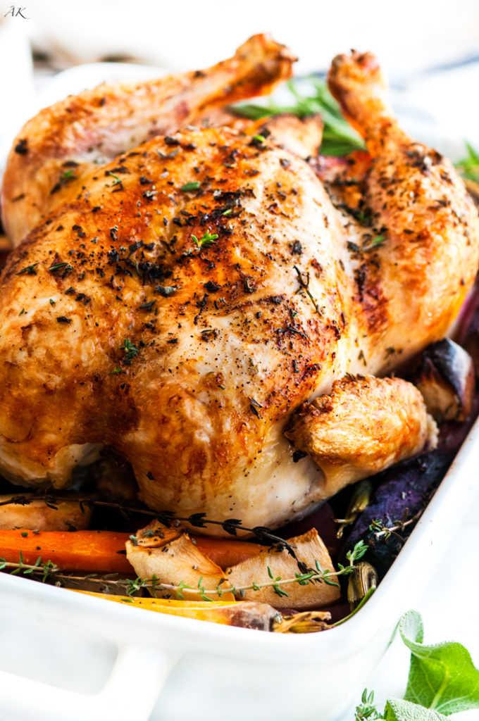 Lemon Roasted Apple Chicken and Veggies | aberdeenskitchen.com