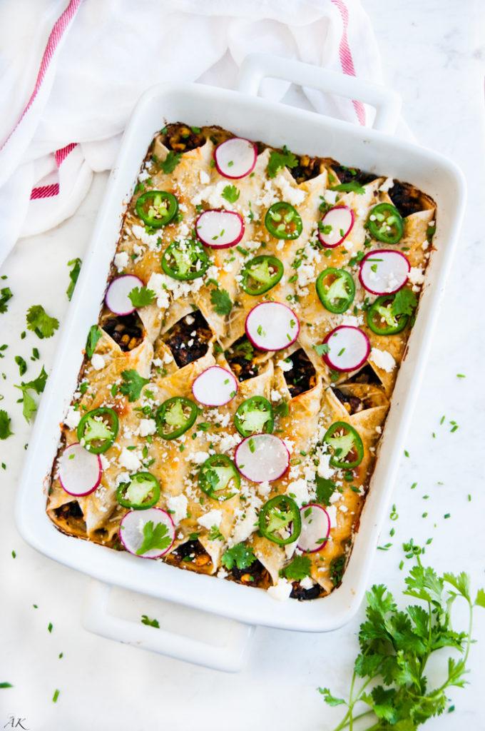 Vegetarian Enchiladas Verdes | aberdeenskitchen.com