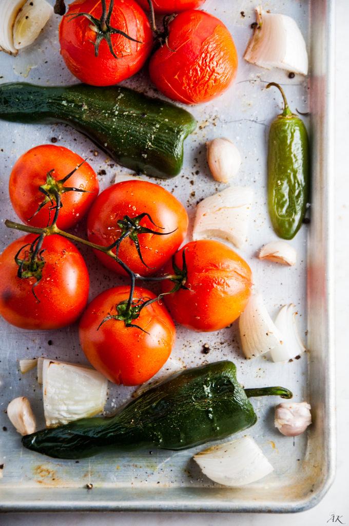 Classic Roasted Tomato Salsa | aberdeenskitchen.com