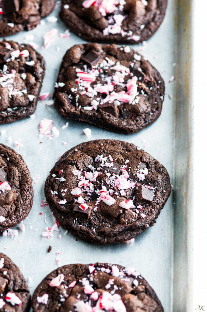 Double Chocolate Peppermint Cookies | aberdeenskitchen.com