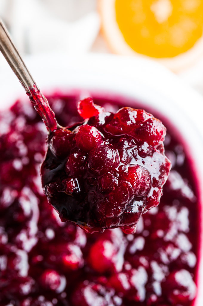 Holiday Orange Cranberry Sauce | aberdeenskitchen.com