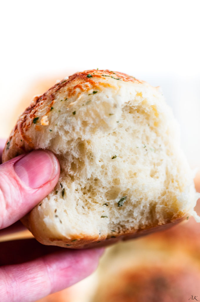 Herbed Garlic Parmesan Dinner Rolls | aberdeenskitchen.com