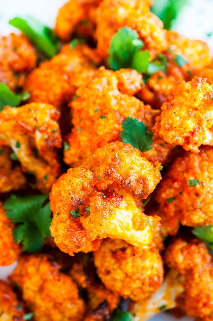 Spicy Buffalo Cauliflower Wings | aberdeenskitchen.com