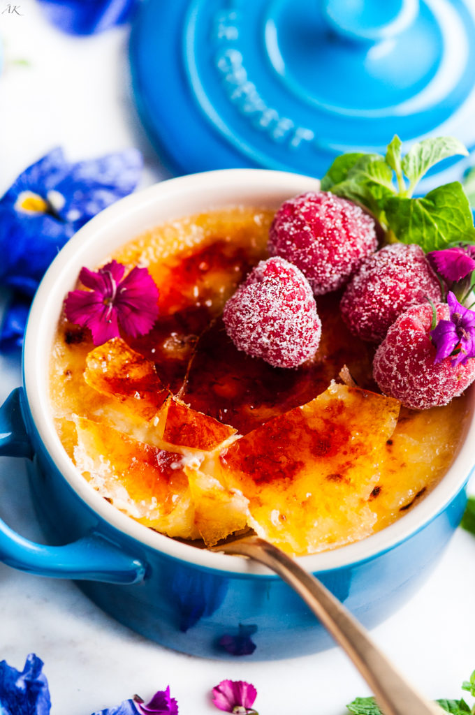Easy Limoncello Creme Brulee | aberdeenskitchen.com